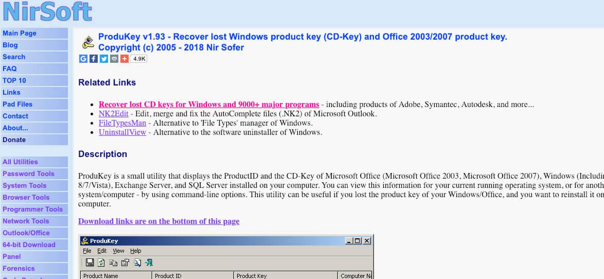 ProduKey pour trouver vos clés Office et Windows » IT Blog
