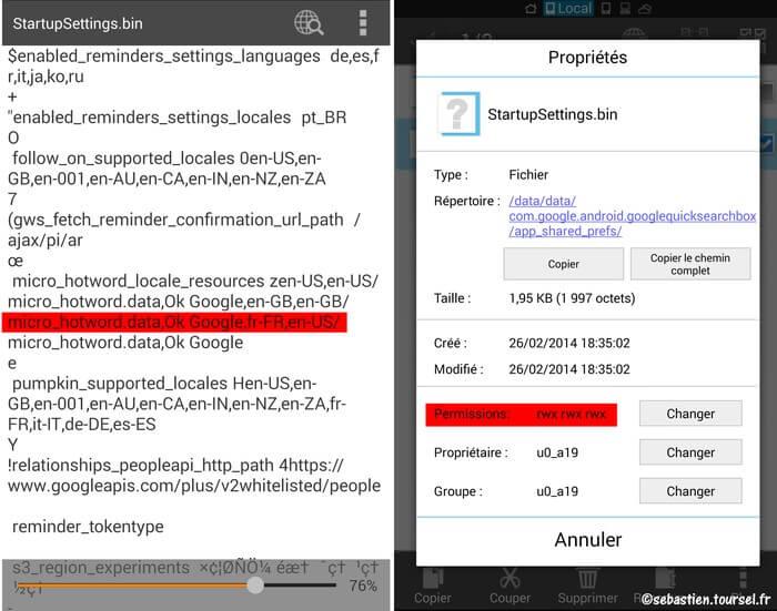 Activer OK Google sur Google Now pour votre Nexus 5 - StartupSettings.bin