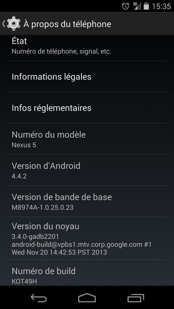 Android 4.4.2 update completed