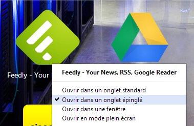 Google Chrome Feedly WebApps