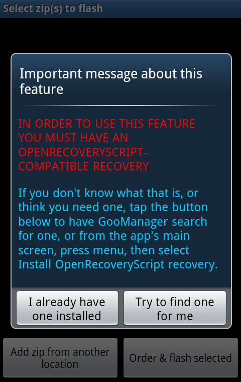 Installer une ROM Custom Android facilement - GooManager Flash