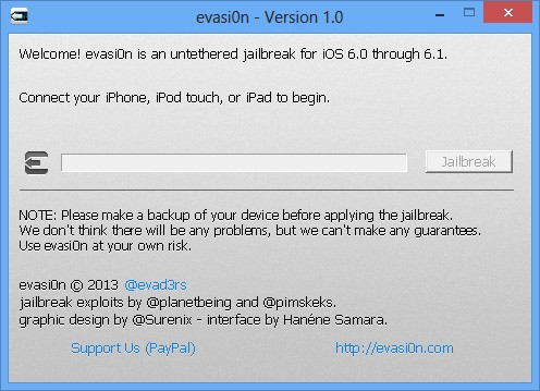 Jailbreak iPhone iPad iOS 6 avec evasi0n