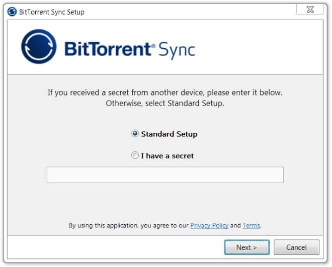 Les meilleurs logiciels 2013 Cloud et Partage - BiTorrentSync