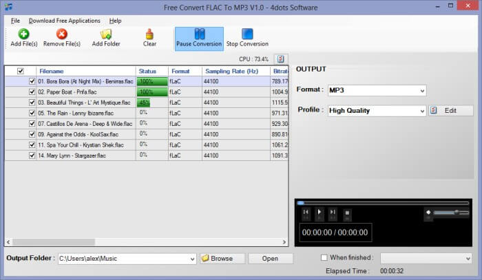 Les meilleurs logiciels 2013 Multimedia - Free Convert FLAC To MP3