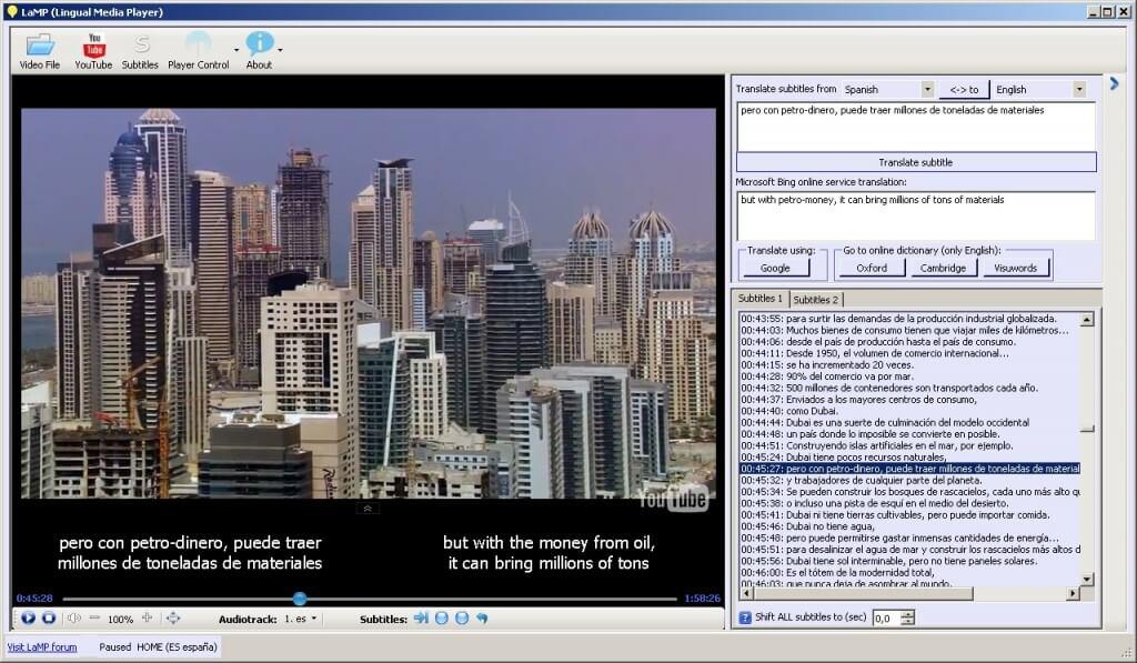 Les meilleurs logiciels 2013 Multimedia - Lingual Media Player
