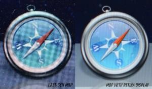 Dock Mac OS X: Macbook Pro comparé au Macbook Pro Retina