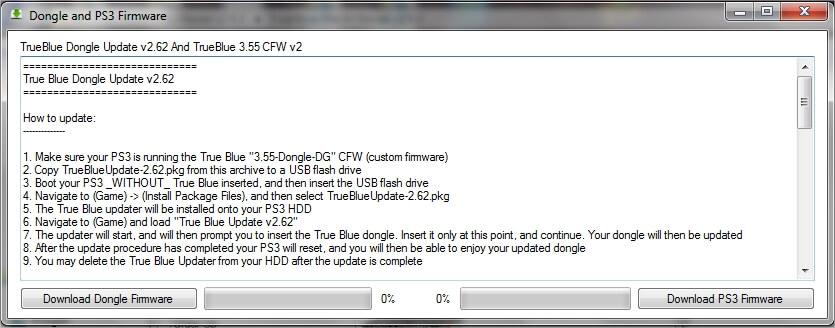 PS3-True Blue Patch Viewer Dongle et Firmware