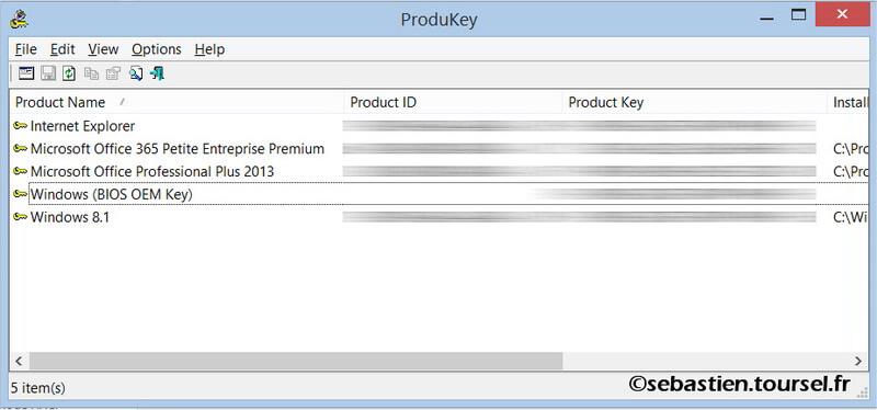 Produkey pour trouver vos cl s office et windows it blog - Windows office gratuit pour windows ...