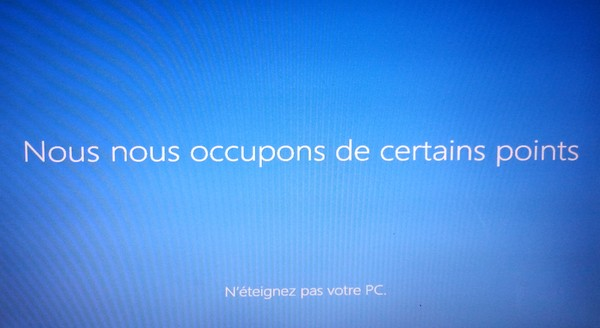 Windows 8.1 Ecran noir - Finalisation installation