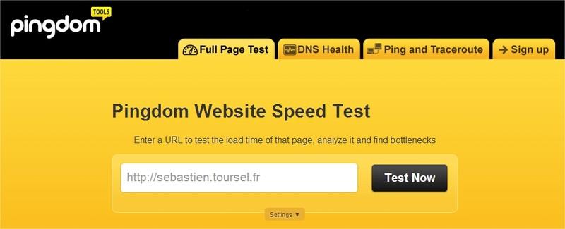 surveiller son site web -Website speed test